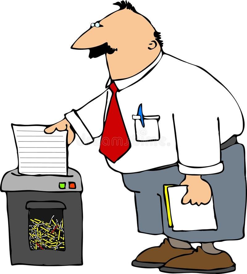 Paper shredder royalty free illustration