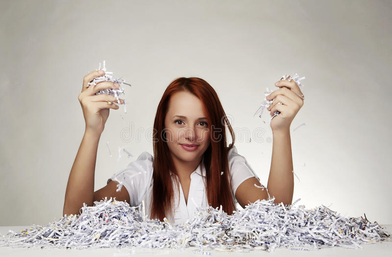 Download Paper shredder stock photo. Image of business, paper - 21819204