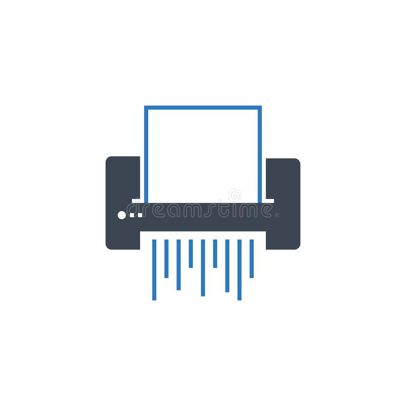 Paper Shredder related vector glyph icon. Isolated on white background. Vector illustration stock illustration