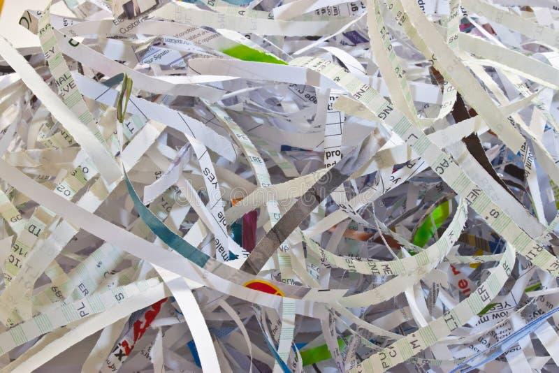 Paper Shredding royalty free stock photos