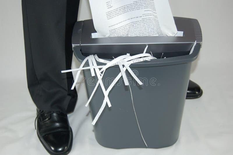 Paper shredding stock photo