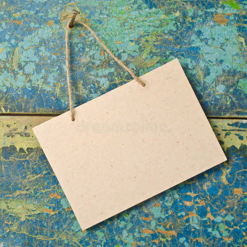 Paper signboard stock photo