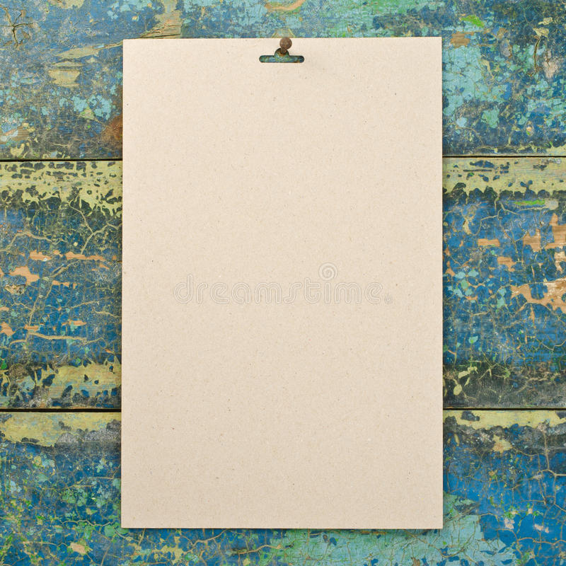 Paper signboard royalty free stock photo