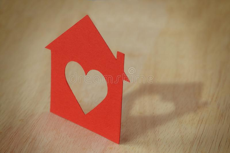 Paper silhouette of house royalty free stock photos