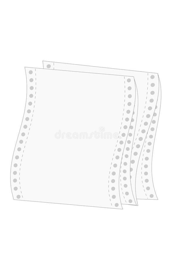 paper skrivare stock illustrationer