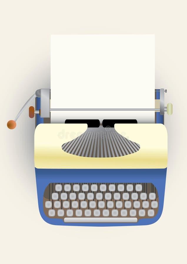 paper skrivmaskin stock illustrationer
