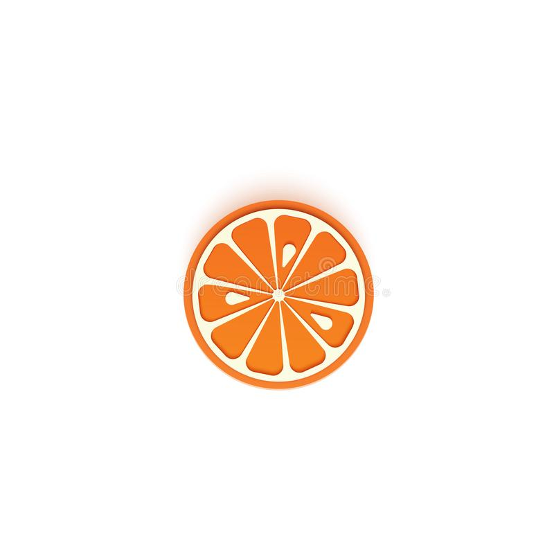 The paper is sliced with cut orange citrus, an excellent design for any purpose. Summer, sweet mandarin juicy food stock illustration