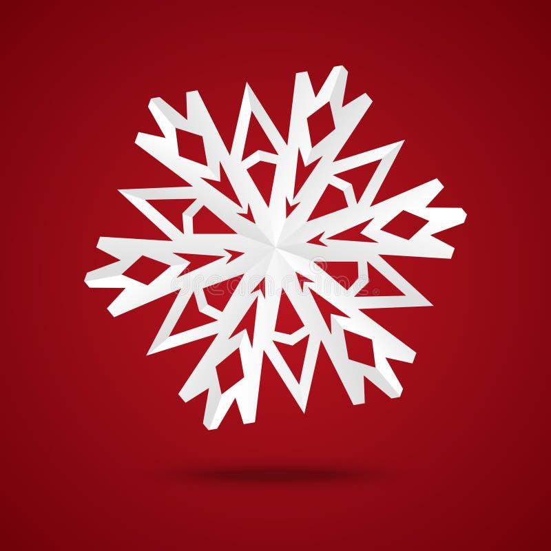 Paper snowflake stock illustration