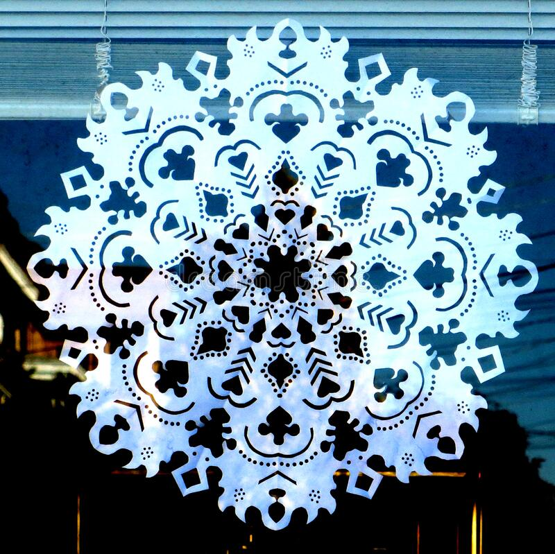 paper snowflake 2 stock photography