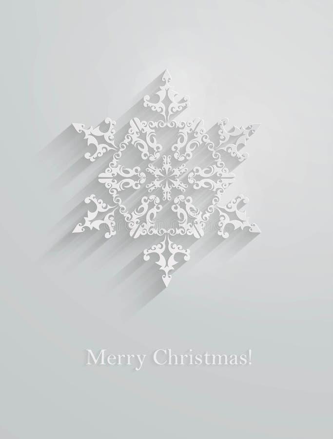 Paper snowflake applique. royalty free illustration
