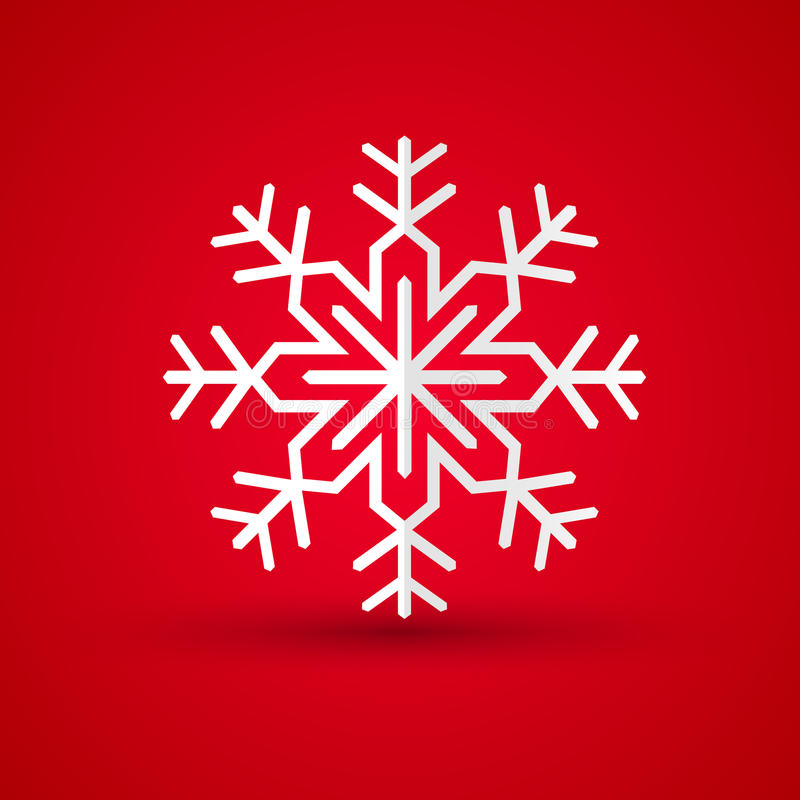 Paper snowflake on colored background royalty free illustration