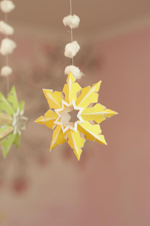 Paper snowflaken royaltyfria foton