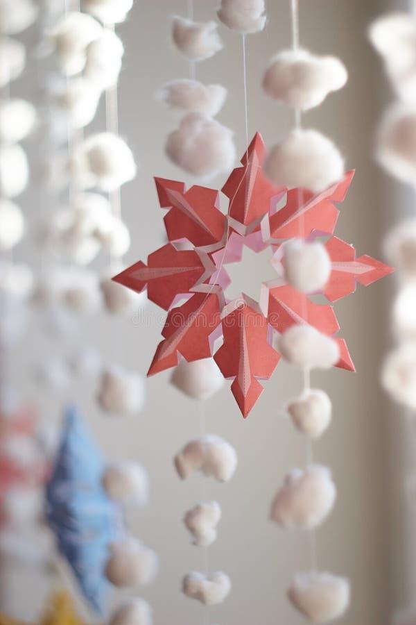 Paper snowflaken fotografering för bildbyråer