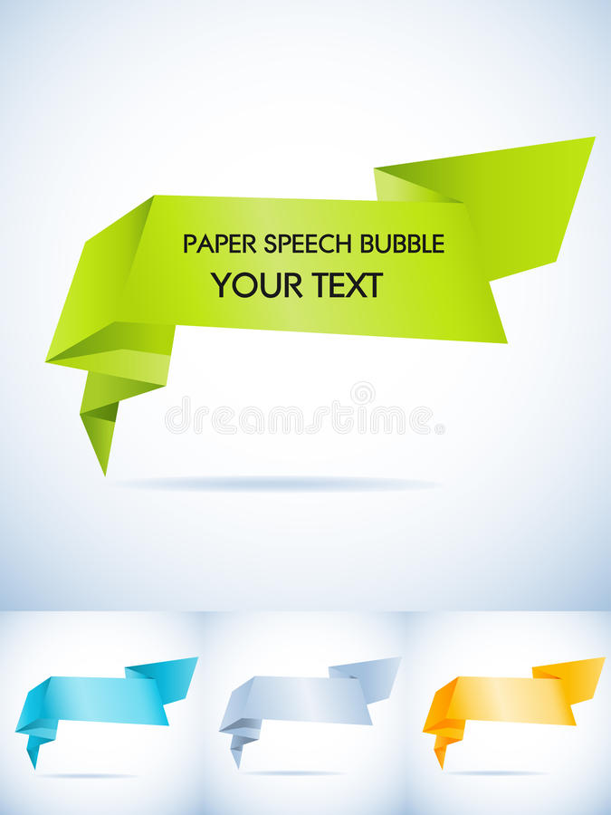 Download Paper speech bubble stock vector. Image of modern, orange - 19247600