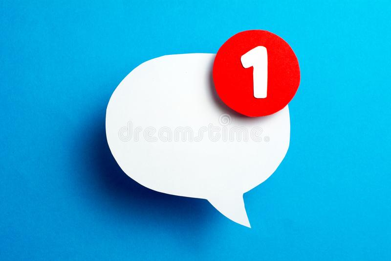 Social Media Chat speech bubble royalty free stock images
