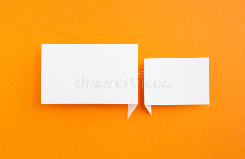 Paper Speech Bubble Stock Photography