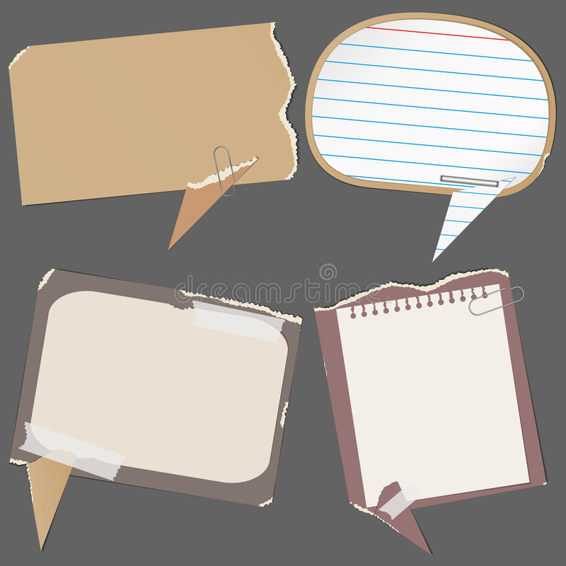 Paper speech bubbles royalty free illustration
