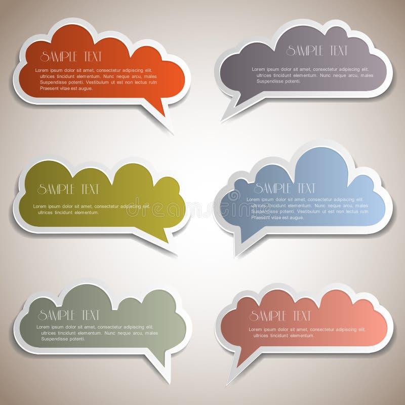 Paper speech bubbles vector illustration