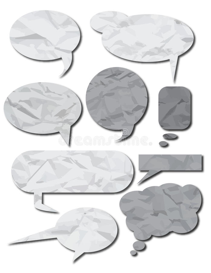 Paper speech bubbles royalty free illustration
