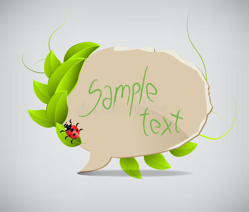 Paper speech bubbles with leaves vector illustration