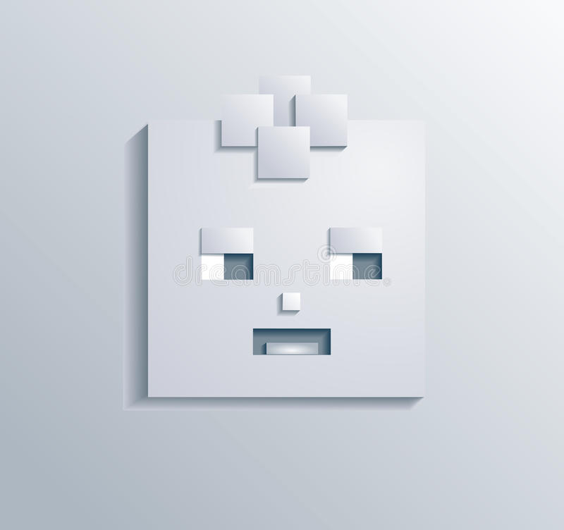 Paper Square Boy Vector Royalty Free Stock Photo