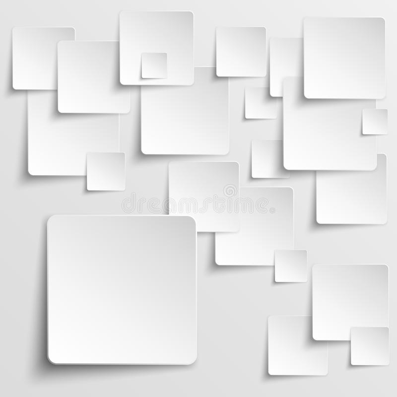 Paper squares abstract vector background royalty free illustration