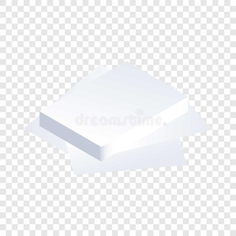 Paper stack icon, isometric style vector illustration