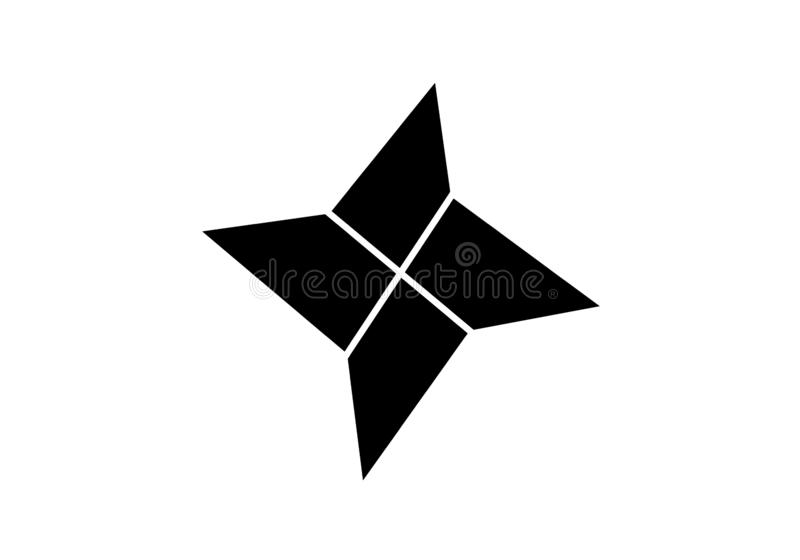 Paper star origami icon fully resizable editable vector in black color vector illustration