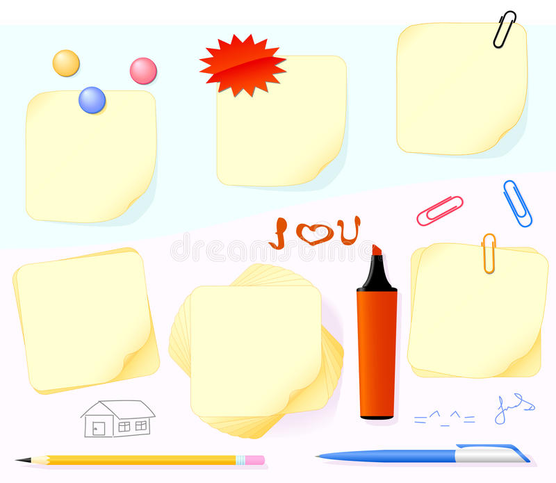 Paper and stationery stock illustration