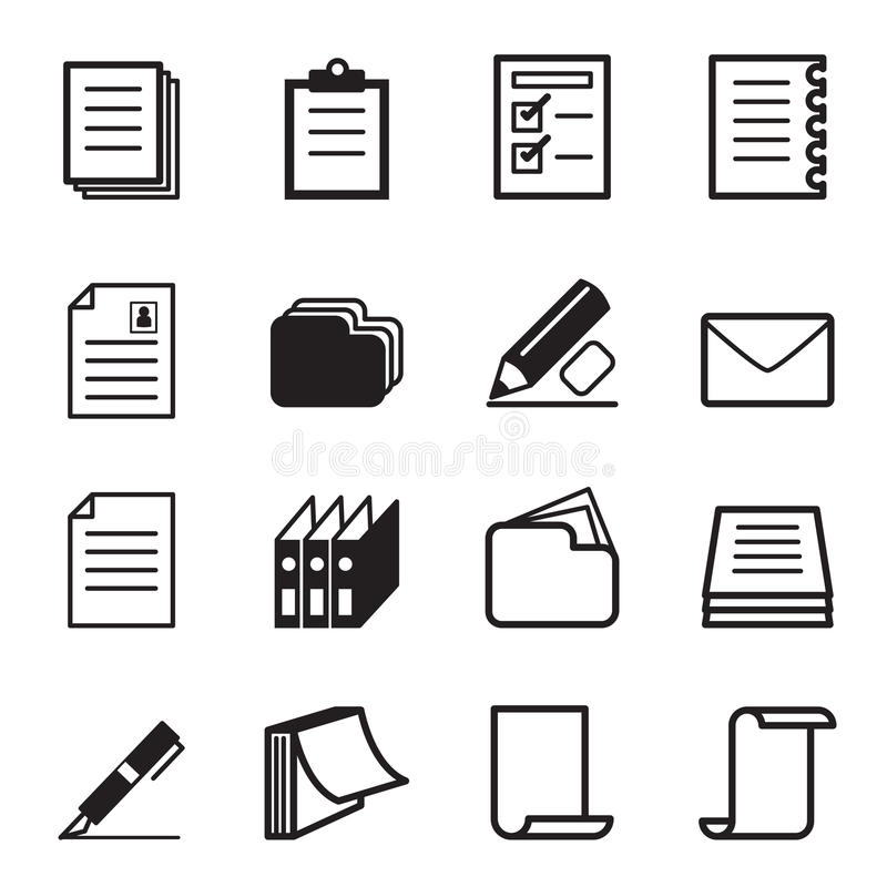Paper & Stationery icon Set vector illustration