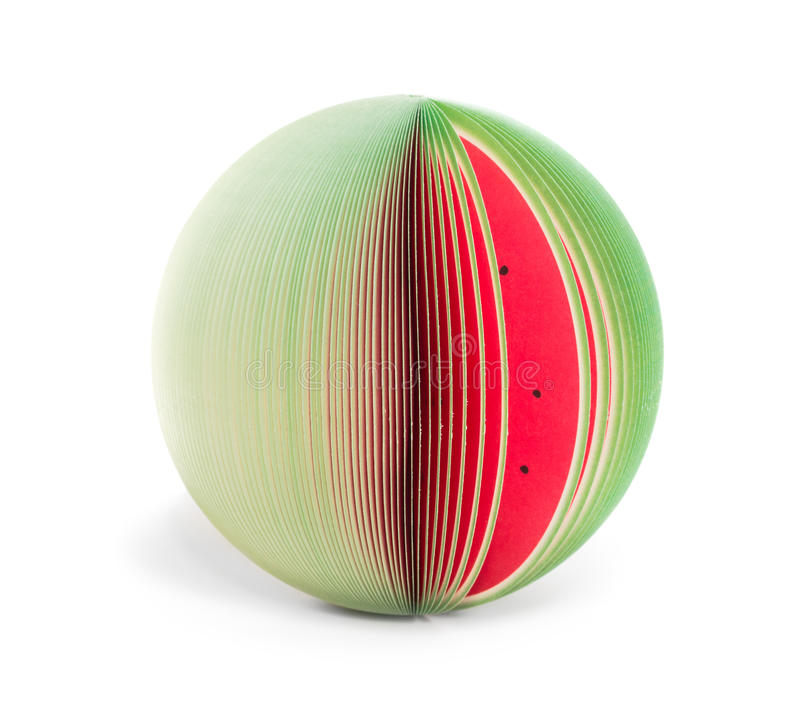 Paper stick note watermelon isolated royalty free stock photo
