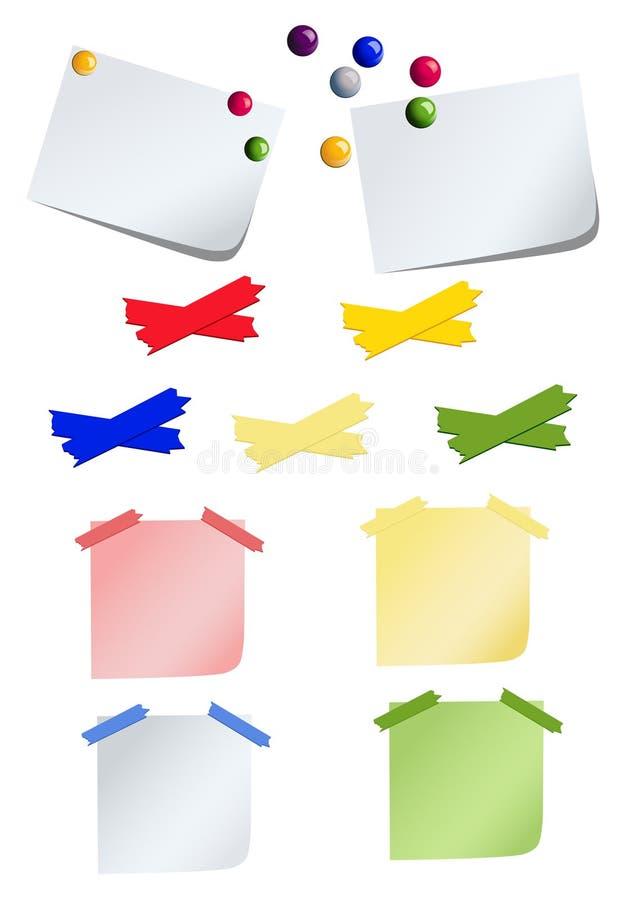 Paper_stick_set stock illustration