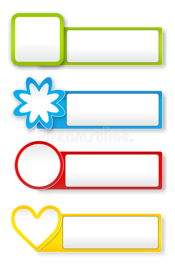 Download Paper stickers stock vector. Image of colorful, template - 33409616