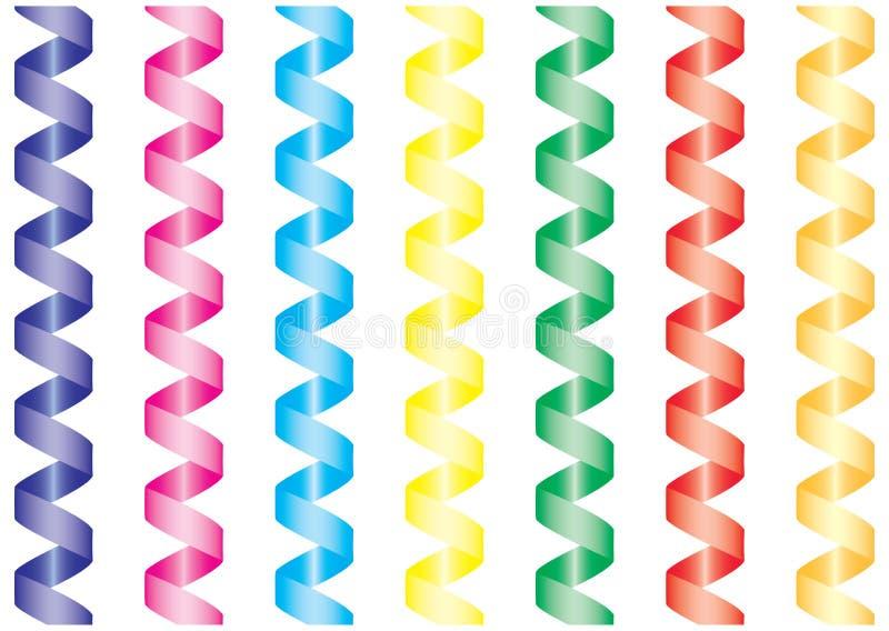 Paper streamer. stock illustration