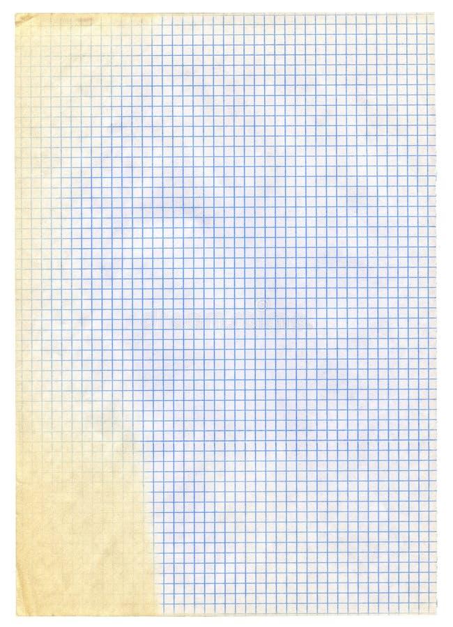 paper stycket kvadrerad white fotografering för bildbyråer