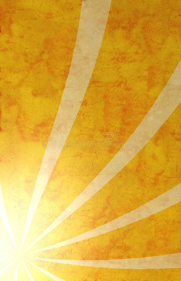 Paper with sun rays royalty free illustration