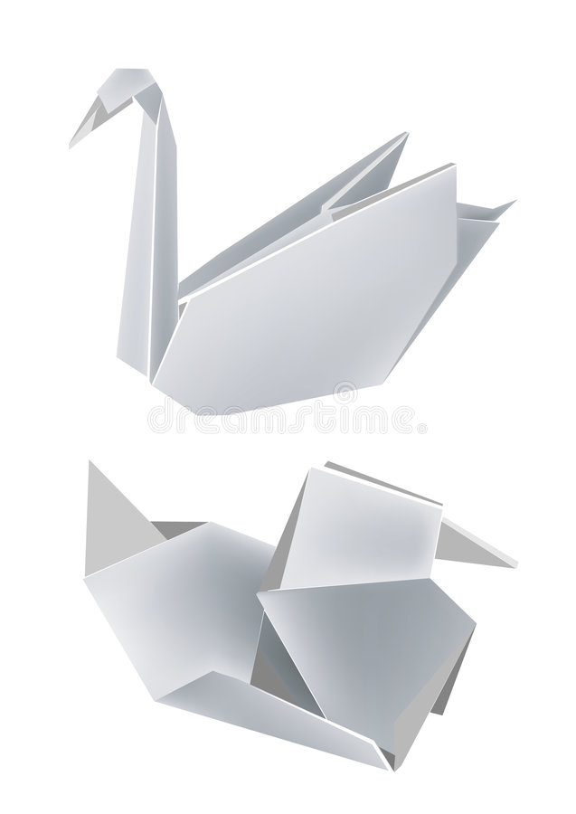 Download Paper_swan_duck stock vector. Illustration of easy, concept - 7884625