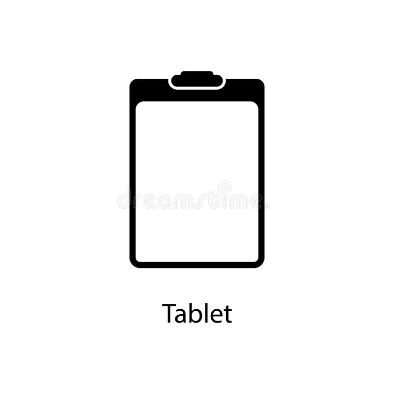 Paper Tablet Icon Element Of Minimalistic Icon For Mobile Concept