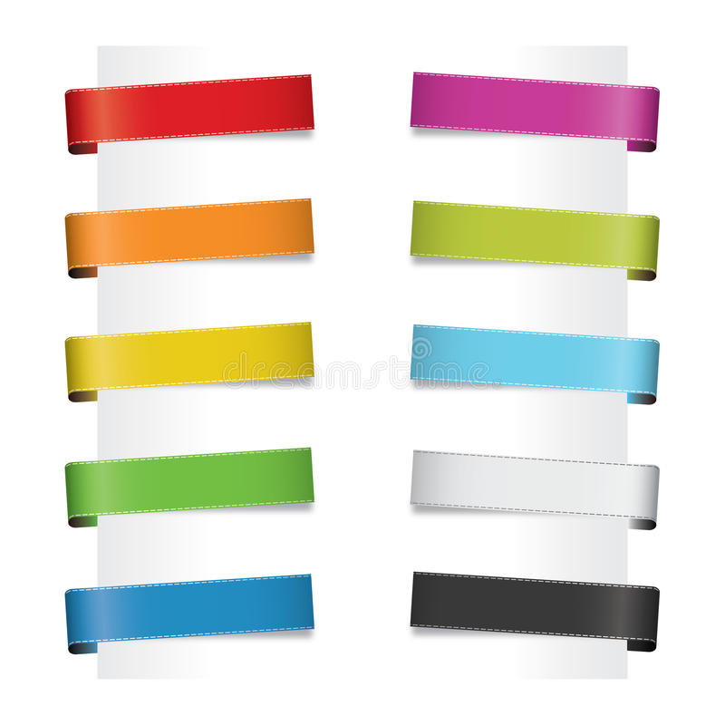 Paper tags royalty free illustration