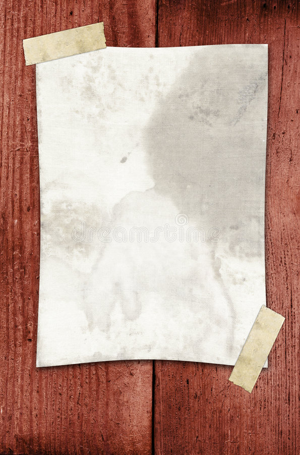 Free Paper Taped To A Wall Royalty Free Stock Photos - 1810408