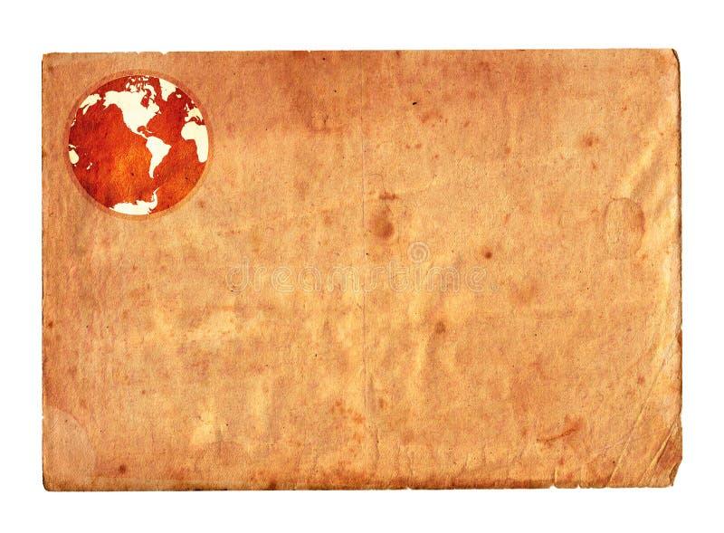 paper tappning för jordklot royaltyfri illustrationer