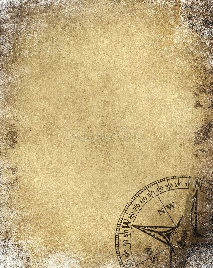 paper tappning för kompass royaltyfri illustrationer