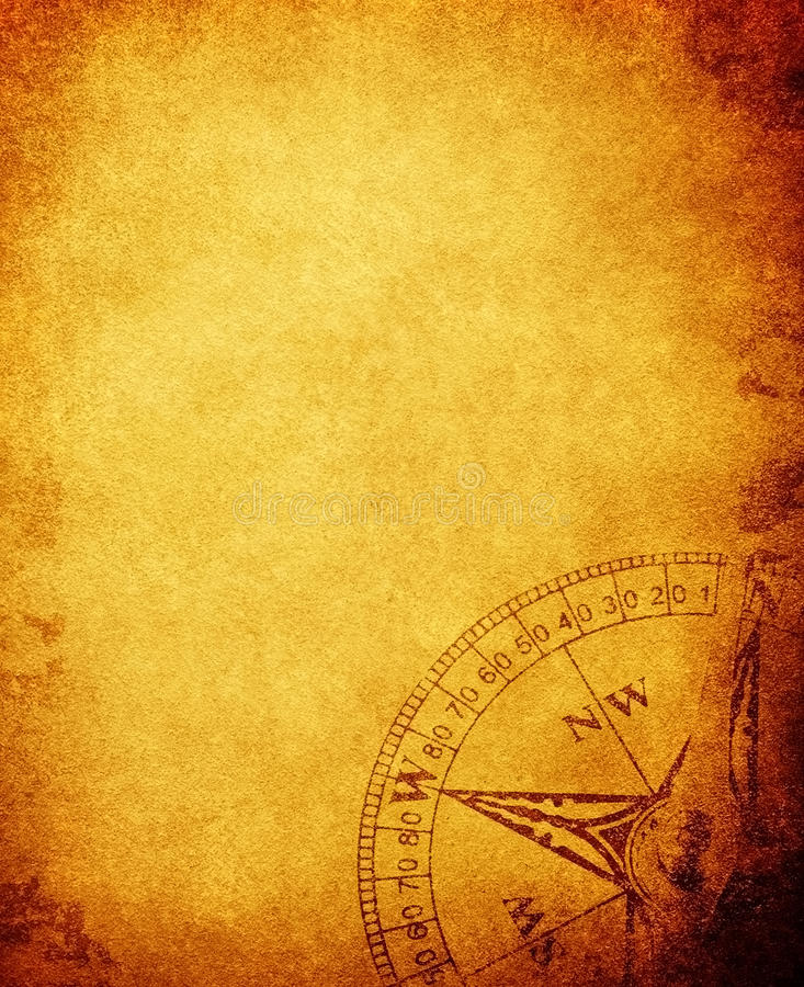 paper tappning för kompass vektor illustrationer