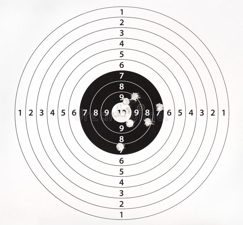 Download Paper Target For Shooting Practice Royalty Free Stock Photo - Image: 23382605