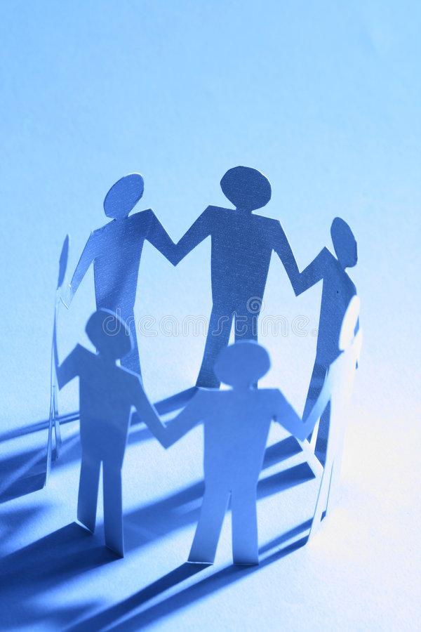 Download Paper team stock photo. Image of holding, attached, equality - 6852552