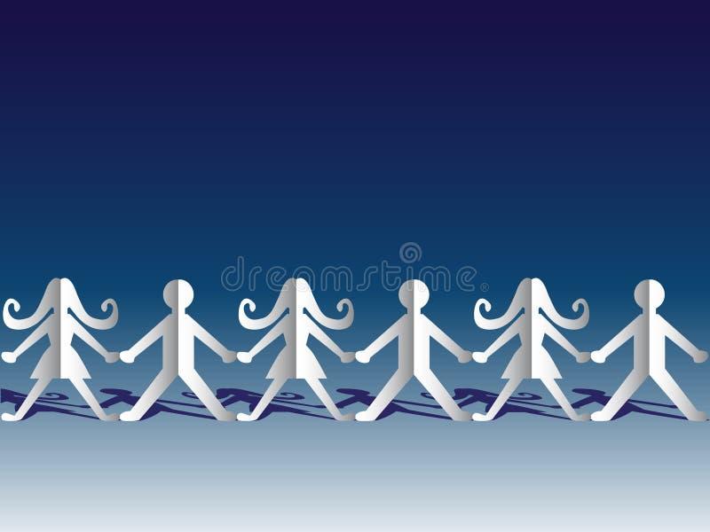 paper teamwork stock illustrationer