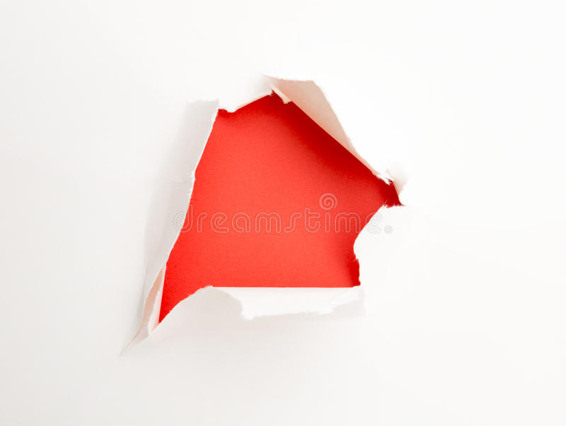 Paper Tear stock image