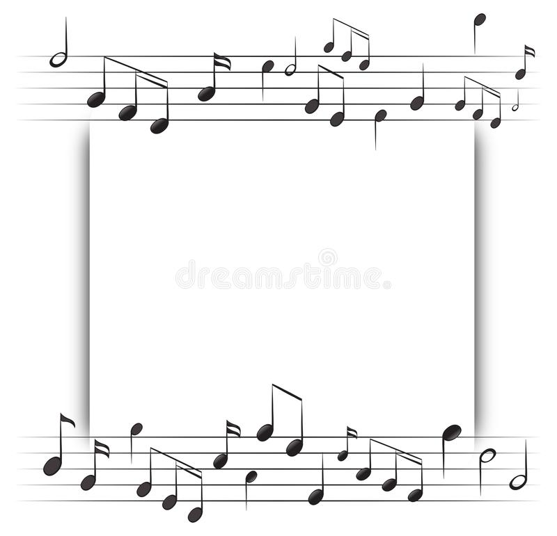 Paper Template With Music Notes In Background Stock Vector