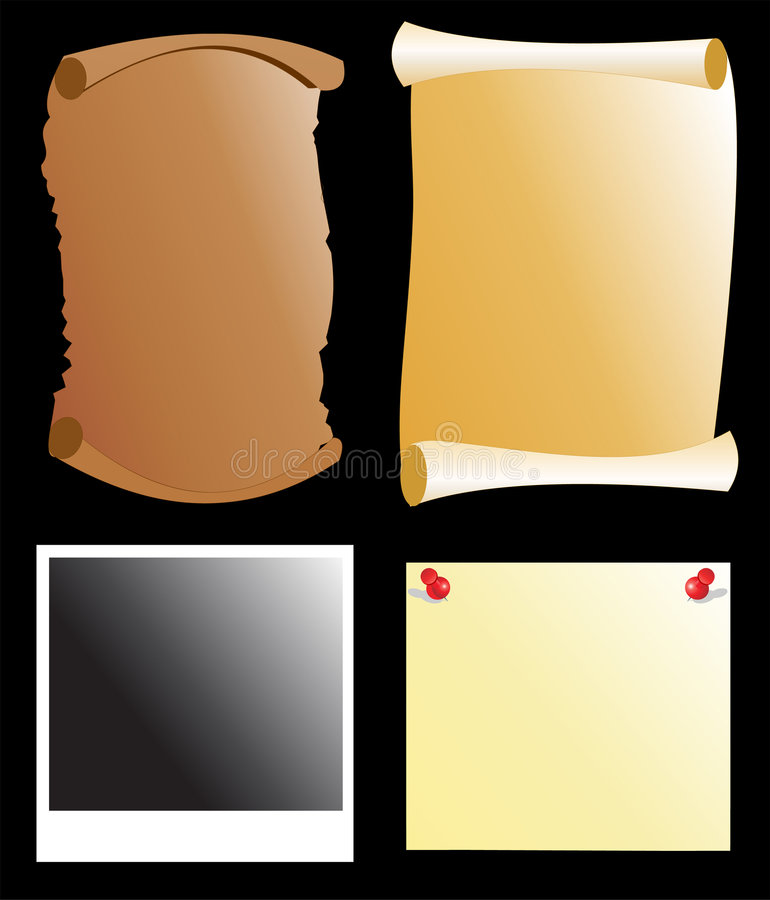 Paper templates vector illustration