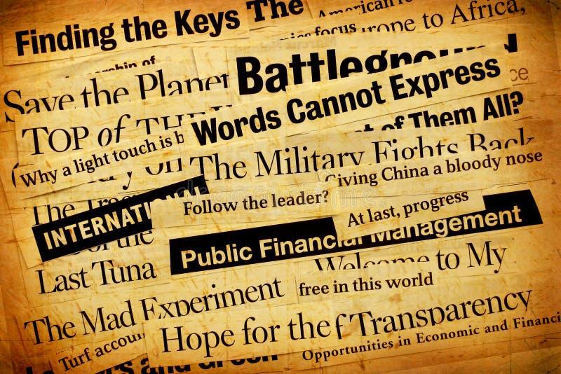 paper text för nyheterna royaltyfria bilder
